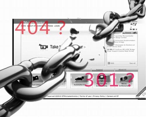 网站死链用404页面好还是301重定向好
